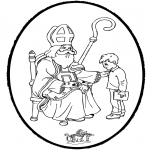 Basteln Stechkarten - Sankt Nikolaus Stechkarte 7