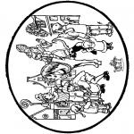Basteln Stechkarten - Sankt Nikolaus Stechkarte 8