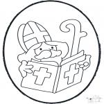 Basteln Stechkarten - Sankt Nikolaus Stechkarte2