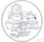 Sankt Nikolaus Stickkarte 1