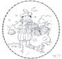 Sankt Nikolaus Stickkarte 2