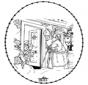 Sankt Nikolaus Stickkarte 6