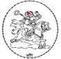 Sankt Nikolaus Stickkarte 9