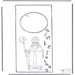 Basteln Stechkarten - Sankt Nikolaus Türhänger