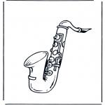 Allerhand Ausmalbilder - Saxophon