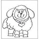 Ausmalbilder Tiere - Schaf