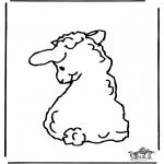 Ausmalbilder Tiere - Schäfchen 2