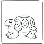 Ausmalbilder Tiere - Schildkröte