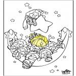 Ausmalbilder für Kinder - Schlafen 2