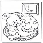 Ausmalbilder Tiere - Schlafende Hund