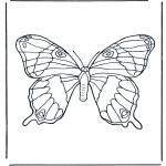 Ausmalbilder Tiere - Schmetterling 1