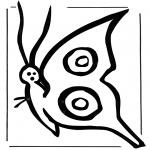 Ausmalbilder Tiere - Schmetterling 2