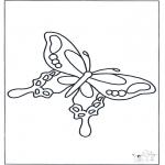 Ausmalbilder Tiere - Schmetterling 3