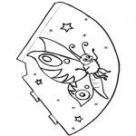 Malvorlagen Basteln - Schmetterling Hut 1