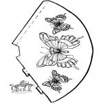 Malvorlagen Basteln - Schmetterling Hut 2