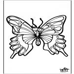 Ausmalbilder Tiere - Schmetterlinge 4