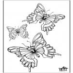Ausmalbilder Tiere - Schmetterlinge 5