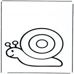 Ausmalbilder Tiere - Schnecke 1
