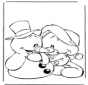 Schneemann mit Bärchen