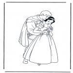 Ausmalbilder Comicfigure - Schneewittchen 12