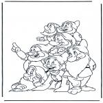Ausmalbilder Comicfigure - Schneewittchen 13