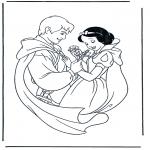 Ausmalbilder Comicfigure - Schneewittchen 2