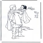 Ausmalbilder Comicfigure - Schneewittchen 4
