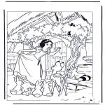 Ausmalbilder Comicfigure - Schneewittchen 7