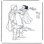Ausmalbilder Comicfigure - Schneewittchen 9