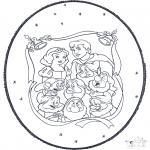 Basteln Stechkarten - Schneewittchen Stechkarte