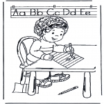 Ausmalbilder für Kinder - Schreiben lernen