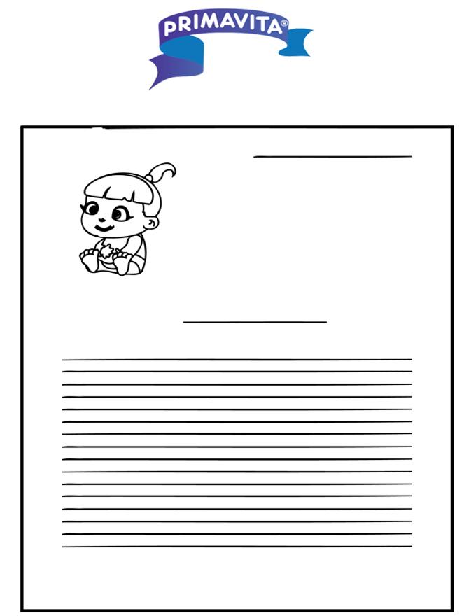 Schreibpapier Primavita baby - Basteln Briefpapier