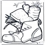 Basteln Stechkarten - Schuh mit Leckereien