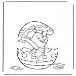 Ausmalbilder Comicfigure - Schweinchen im Osterei