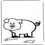 Ausmalbilder Tiere - Schweinchen