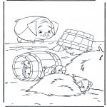 Ausmalbilder Tiere - Schweine 2