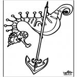 Ausmalbilder Tiere - Seepferdchen