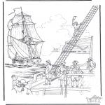 Allerhand Ausmalbilder - Segelboot 2
