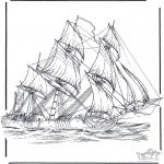 Allerhand Ausmalbilder - Segelboot 3