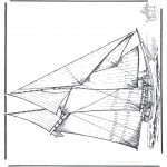 Allerhand Ausmalbilder - Segelboot 4