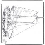 Allerhand Ausmalbilder - Segelboot 5