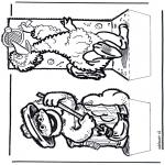 Basteln Stechkarten - Sesamstrasse Stechkarte