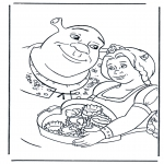 Ausmalbilder Comicfigure - Shrek 2