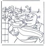Ausmalbilder Comicfigure - Shrek 3