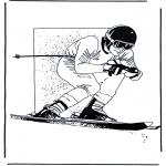 Allerhand Ausmalbilder - Ski fahren 1