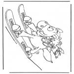 Ausmalbilder Comicfigure - Skipferd Diddl