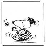 Ausmalbilder Comicfigure - Snoopy 1
