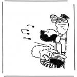 Ausmalbilder Comicfigure - Snoopy 2