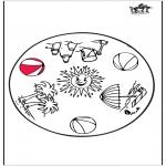 Malvorlagen Mandalas - Sommer mandala