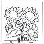 Allerhand Ausmalbilder - Sonnenblumen